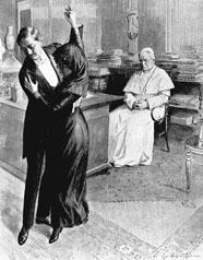 Танго демонстрируют Папе Пию Х, после чего он предал танго анафеме.